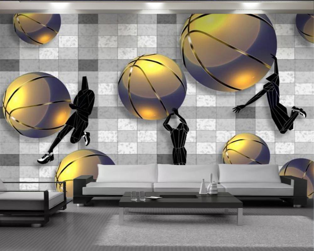 Papel de parede dourado basquete dourado 3d papel de parede sala de estar quarto fundo parede decorativa luxo 3d papel de parede