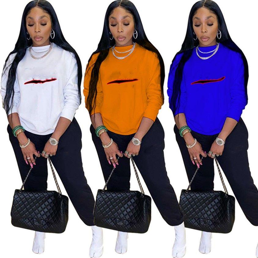 Abbigliamento invernale Abbigliamento Donne TrackSuits Lettera Abiti da 2 pezzi Set da jogging Suit S-2XL Sweatsuits Felpa con cappuccio + Leggings Manica lunga Sportswear 4291