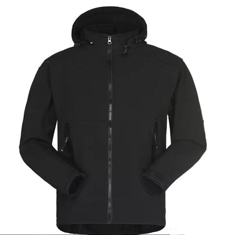 Fashion- 2021 Mens Designer Manteau d'hiver Casual Couleur Solide Veste Athlétique Veste À Capuche Capuche À Capuche Chaud Manteau Asiatique Taille Asiatique Livraison Gratuite