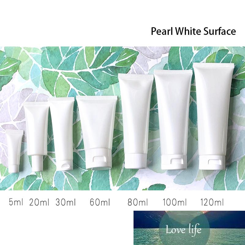 Livraison Gratuite 5G 20g 60g 100ml Perle Blanc Vide Cosmétique Soft Tube Squeeze