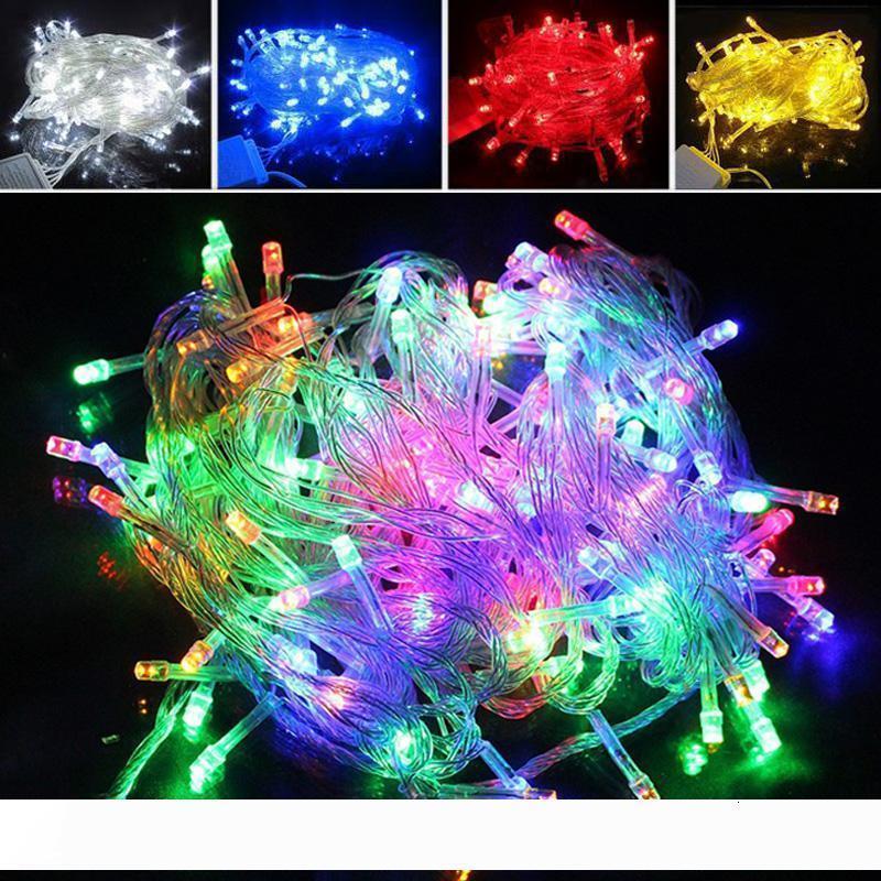 Luces 10m Crazy Selling PCS Navidad 100 cuerdas Decoración Luz 110V 220V para fiesta de fiesta LED LightingRu12