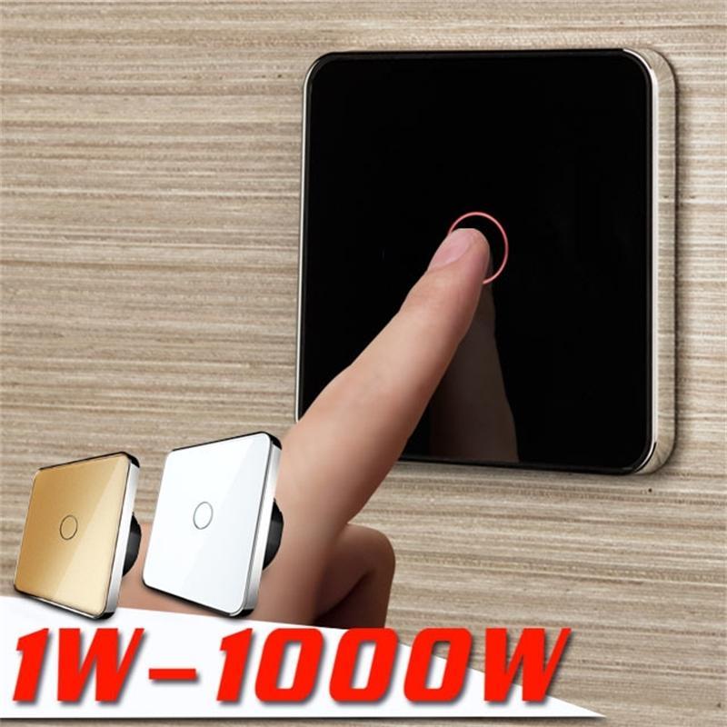 Jiubei, envío gratis, interruptor táctil de la UE, interruptor táctil de pared, 1gang 1way, AC 220V-250V, C701-11-- Y200407