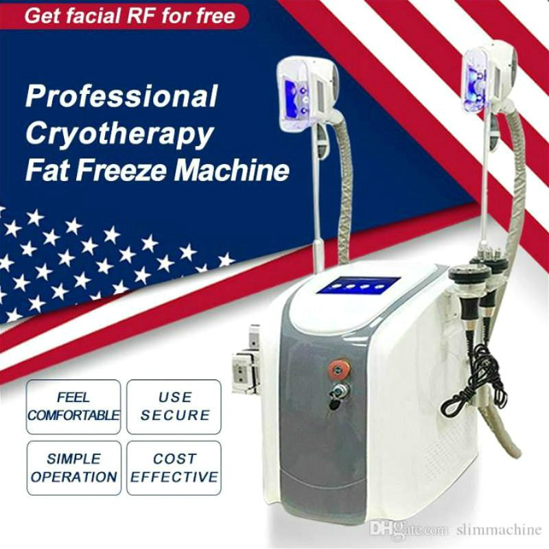 Cryolipolyse professionnelle Freeze Freeze Minceur Body Sculpting Machine 2 Cryo poignées Cavitation RF Lipolaser Salon Equipements