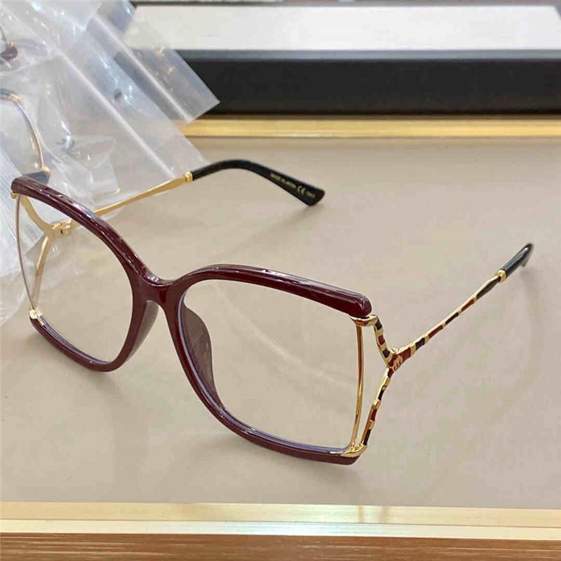 0592 نظارات الأزياء شعبية أزياء الرجال النساء ساحة الرجعية نمط المعادن الإطار الكامل جودة عالية متعدد الألوان إطارات الحرة المرصوفة