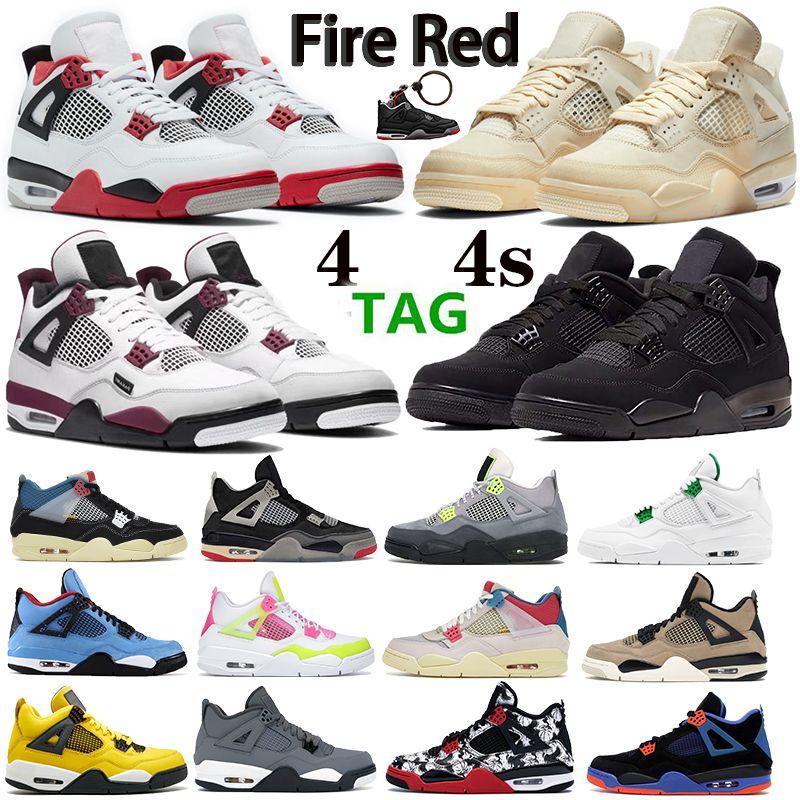 جديد أعلى النار الأحمر الشراع الأسود القط نوير الرجال النساء 4 4 ثانية أحذية كرة السلة باريس صبار جاك رجل المدربين الأحذية الرياضية