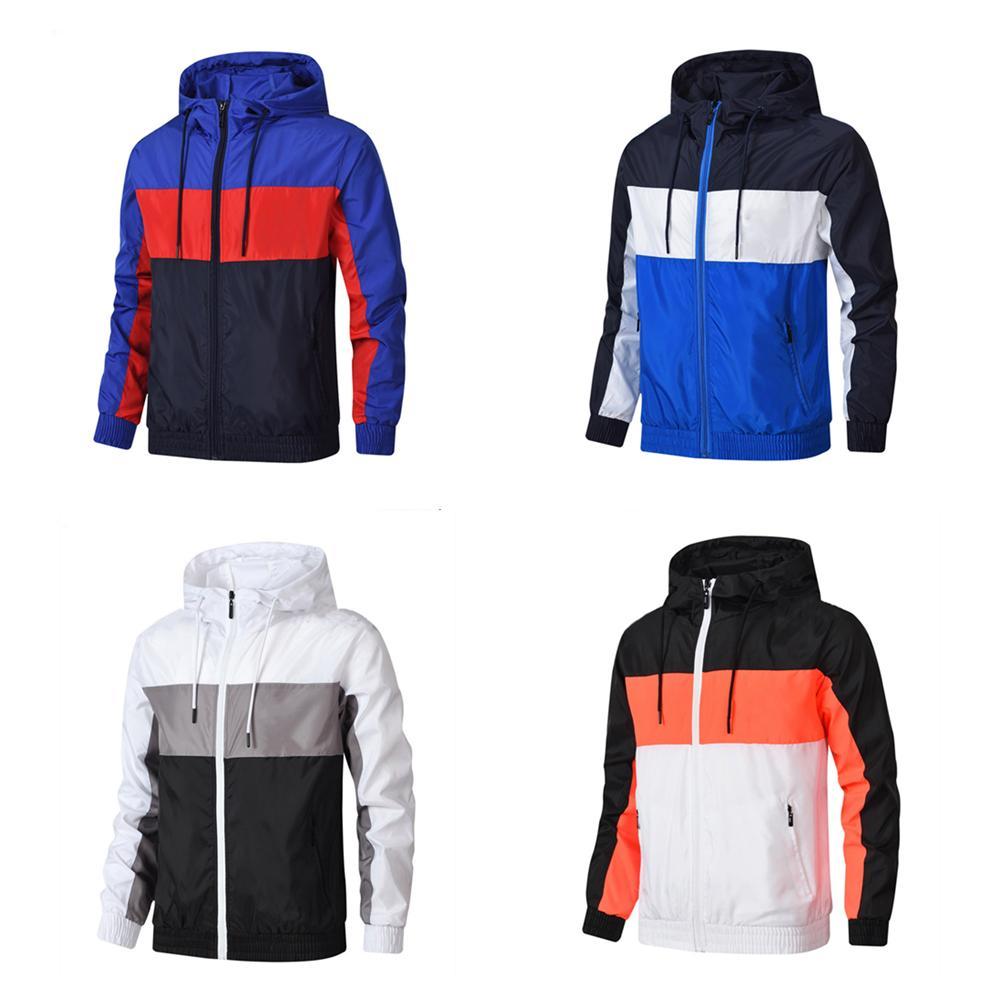Homens Mulheres Casaco Casaco Casaco com Capuz Roupas de Hoodies Asiáticas Sportswear Sports Zipper Windbreaker Primavera Múltiplas Escolhas Por favor, escolha 1-2 maior que o habitual