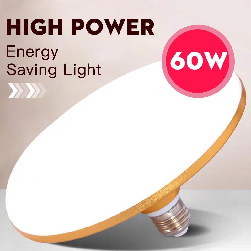 E27 Bombilla LED 220V Lámpara LED 15W 20W 30W 50W 60W 40W UFO LEDs Bombilla de luces para iluminación para el hogar Lámparas de mesa de la cocina Garaje de la cocina