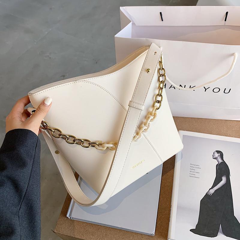 Сумка ведро сплошной цвет мессенджера сумка 2020 новая кожаная ретро плечо и женская мода FVDUN