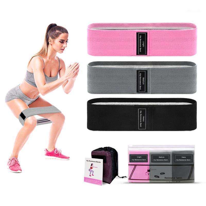 3PCS полосы сопротивления бедра йоги противоскользящий тренажерный зал Фитнес латексная полоса нога тренировки ноги упражнения заплетенные эластичные полосы фитнес оборудование1