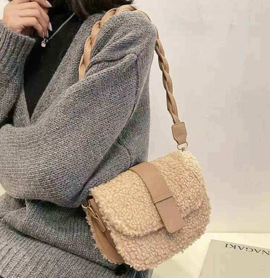 HBP Yeni Moda 2021 kadın Şık Şık Omuz Çantası ile Kabarık Küçük Kare Çanta