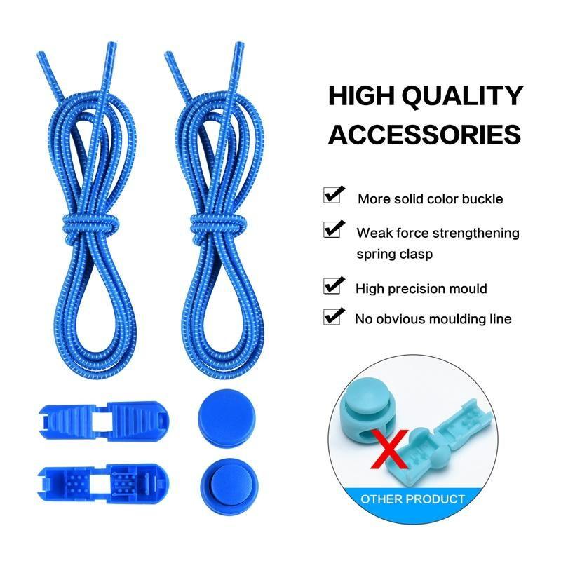 Ventes directes d'usine Lazy Shoelace Sécurité enfant Sécurité de la dentelle sans dentelle Blanc Dot Elastic corde Sports Shoelace