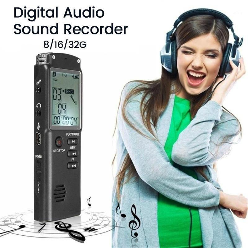 8G / 16G / 32G gran capacidad recargable pantalla grande HD Reducción de ruido Grabador de voz profesional grabación reproductor de MP31