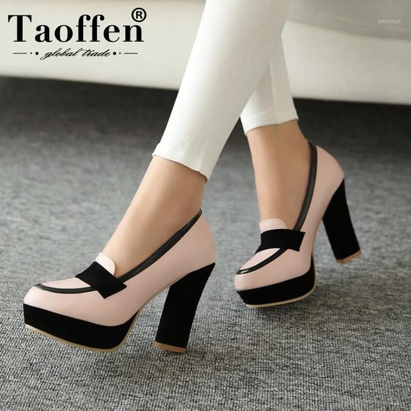 TaOffen Damies High Face Shoes Женщины Сексуальное Платье Обувь Мода Леди Женские Насосы P13025 Горячие Продажи EUR Размер 34-471