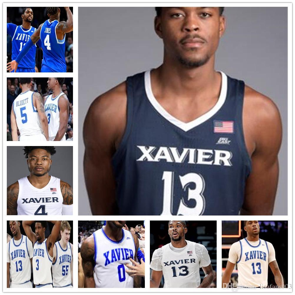 Xavier Basquete 13 Naji Marshall 1 Paul Scruggs 32 Zach Freemantle 11 Bryce Moore 2 Dahmir Bishop 55 Crawford Stitched Jersey Ncaa College