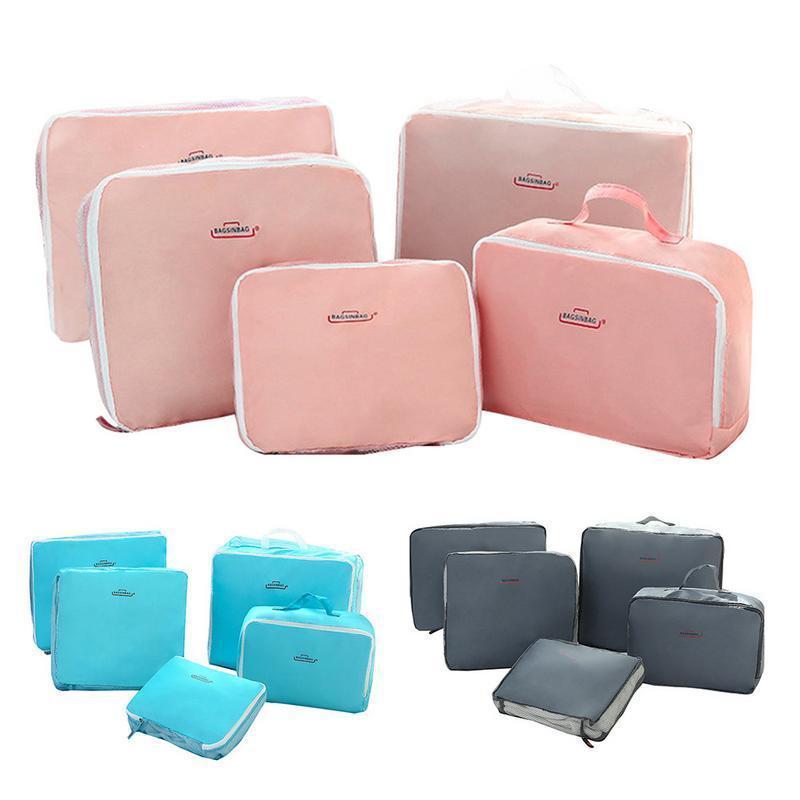 Inicio ropa interior al aire libre 5 piezas de almacenamiento calcetines de almacenamiento Ropa Organizador separado Maleta de viaje Maleta de cosméticos Organizador Set de almacenamiento Bolsa Veeka