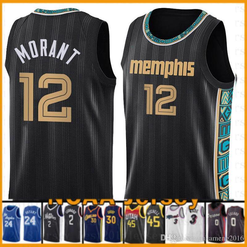 un 12 Morant MemphisGrizzliesNew Basketball Jersey 2020 2021 NUEVO Grizzlie Jayson 0 Tatum Sion 1 Williamson Jamal 27 Murray Jokic