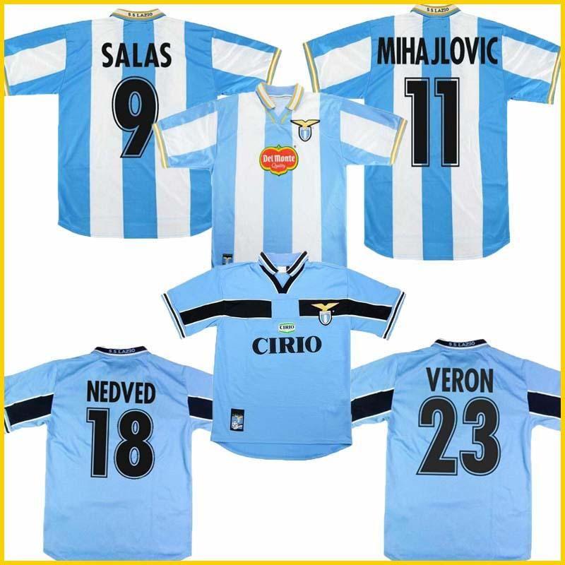 2020 1998 2000 Lazio European Home Retro Soccer Jersey ...