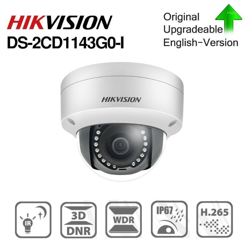 Камеры Hikvision Original DS-2CD1143G0-I-I Poe Камера Видеонаблюдение 4MP ИК-сеть Купол 30 м IP67 IK10 H.265 + SLOT1