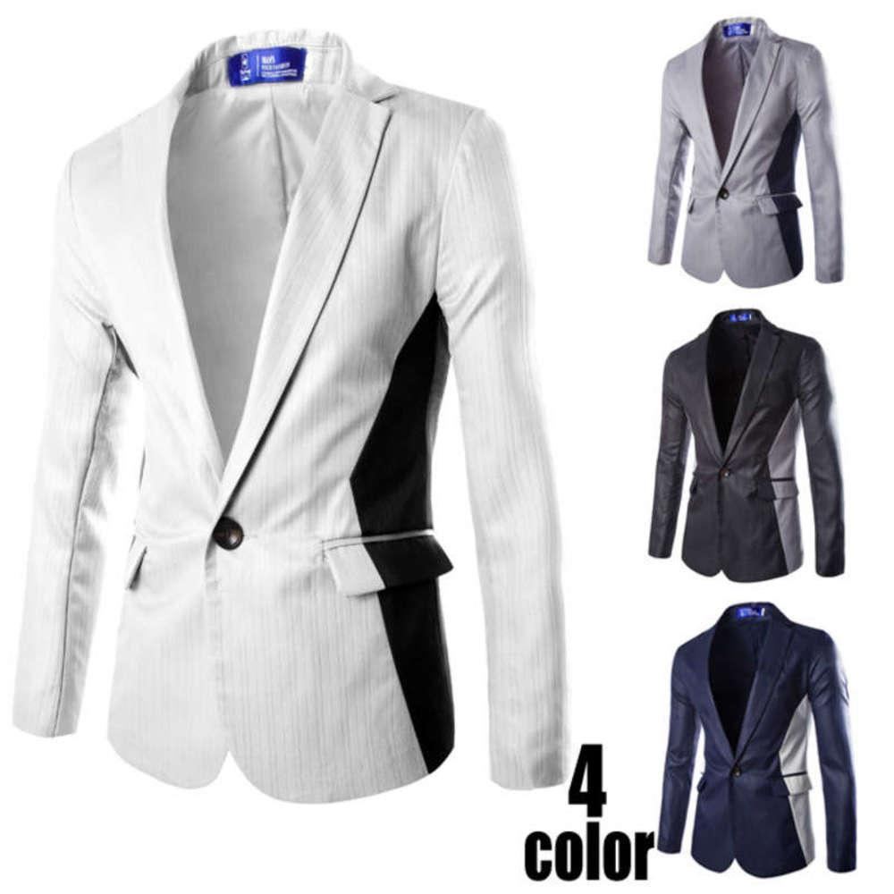 Casual traje Negocio New Hombres Blazer Best Man Fashion Slim Top