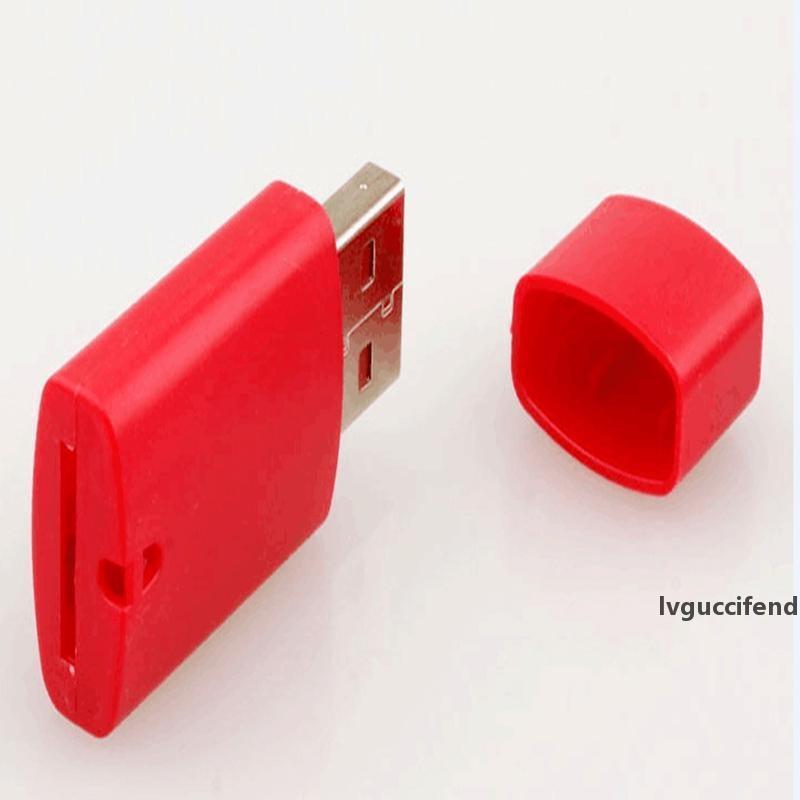500pcs / lot de haute qualité, petit chien lecteur de carte mémoire USB 2.0 TF, lecteur de carte micro SD DHL FEDEX Livraison gratuite