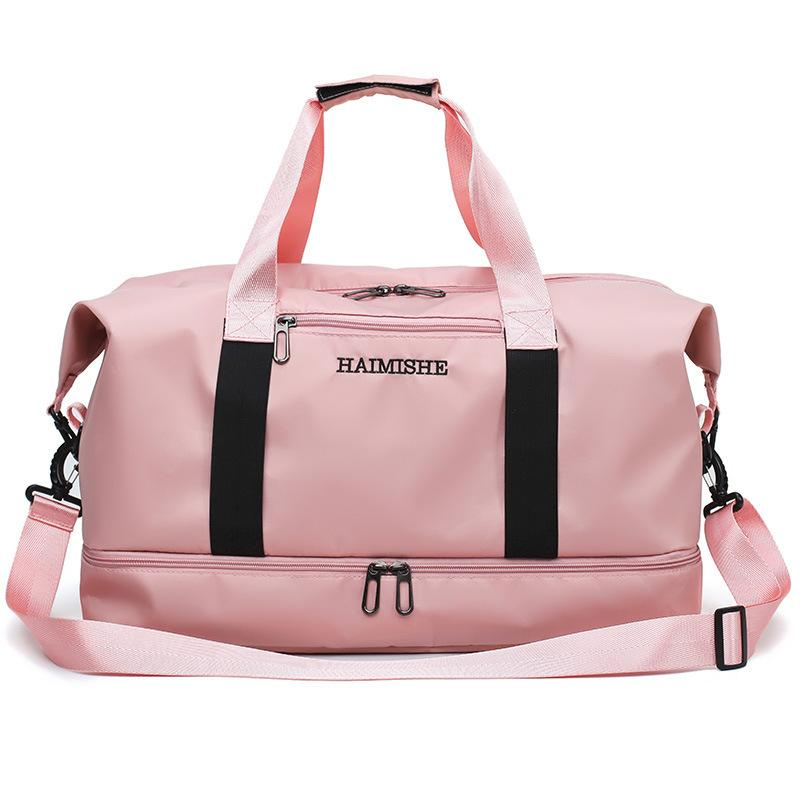 Outdoor Waterproof Oxford Training Shoulder Sport Yoga Bag For Women Fitness Travel Duffel Clothes Gym Bags 201 Q1206
