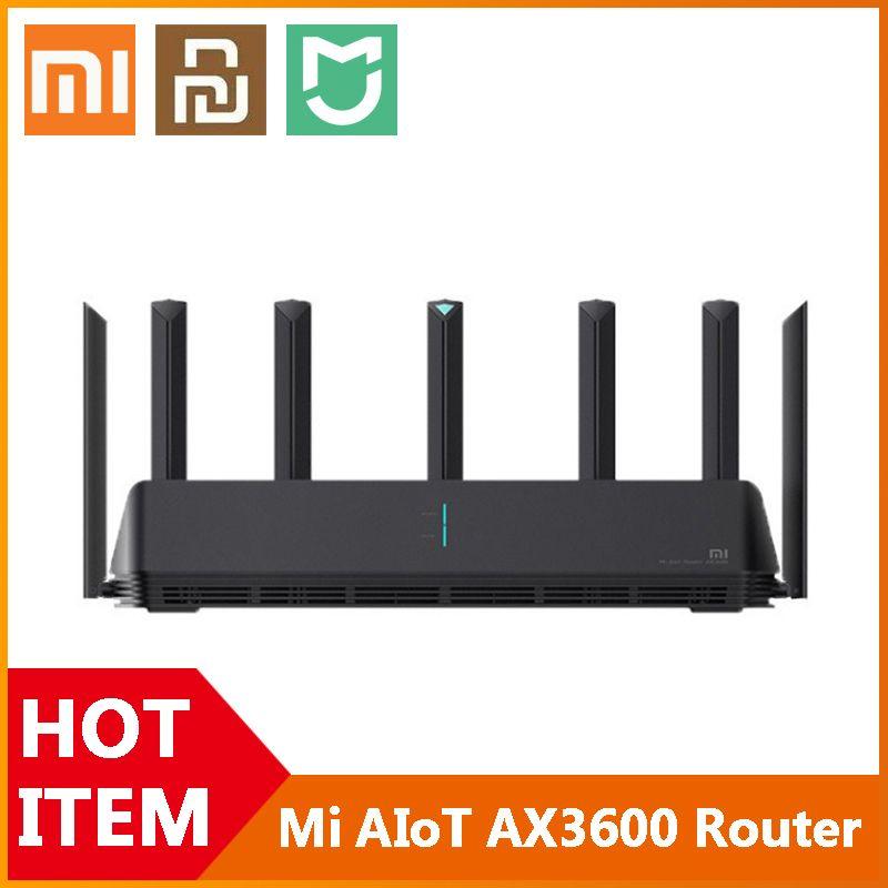 Новые Xiaomi MI AIOT Mar Router AX3600 WiFi 6 Двухдиапазонная 2976 MBS Gigabit Rate WPA3 Шифрование Security Mesh WiFi Усилитель внешнего сигнала