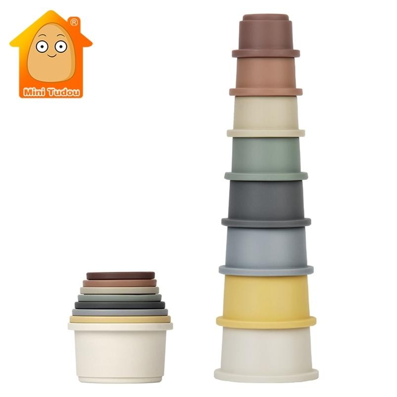 Juguete de bebé apilando tazas para niños anillo educativo anillo torre de baño juego agua conjunto juguetes educativos tempranos para bebé 0 12 meses 201216