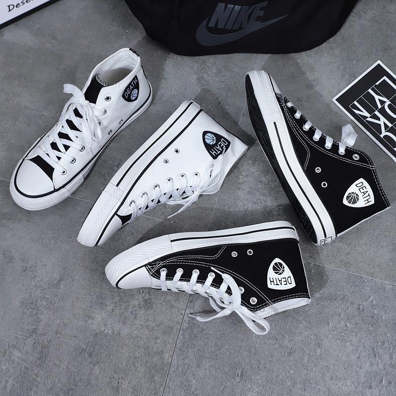 2020 Bahar Yeni erkek Ayakkabı Kore Moda Trendi Rahat Tüm Maç Tuval Ayakkabıları Erkek Öğrenciler Nefes Yüksek Üst Sneakers