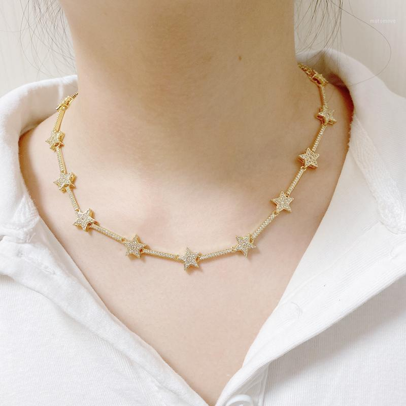 5 шт. / Лот Кубический циркокон Звездный чехлер Ожерелья для женских женщин1