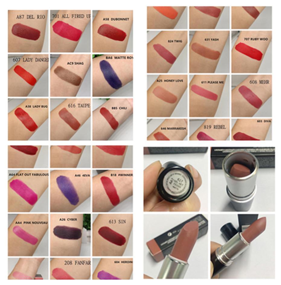 Magazzino 48 colori collezione opaco rossetto rouge à lèvres antico velluto rocker 4eva pericoloso lustro retrò rossetto + dolce odore di alta qualità