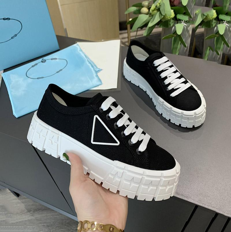 Damen Nylon Niedrig Tops Gabardine Sneakers Dame Mode Casual Schuhe Triple Black White Canvas Platform Sneaker Damen Party Freizeit Trainer