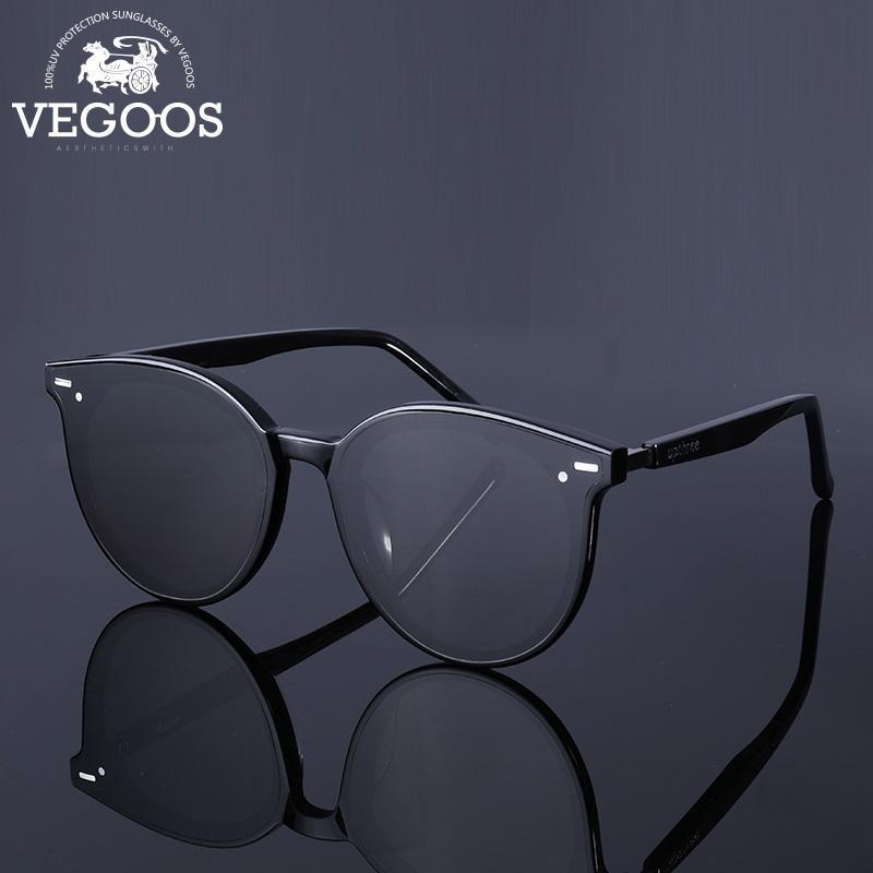 Vegoos # 6188 Gafas de sol Polarizadas Vintage Sol Redondo Diseñador Sol Tr Marco Mujeres Gafas Marca de Hombre Hombre Lentes CCVLG