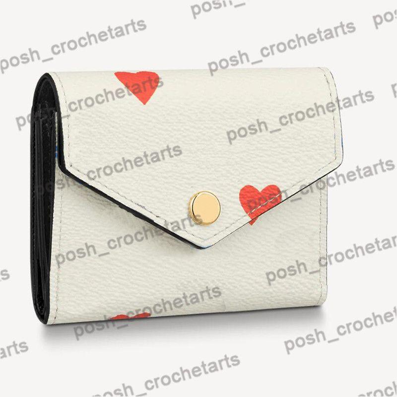 Poker Imprimer Designer Zoe portefeuille est livré avec une boîte au jeu sur Zoe Portefeuille pour les cadeaux de femmes Designer Petits produits en cuir vendu avec boîte