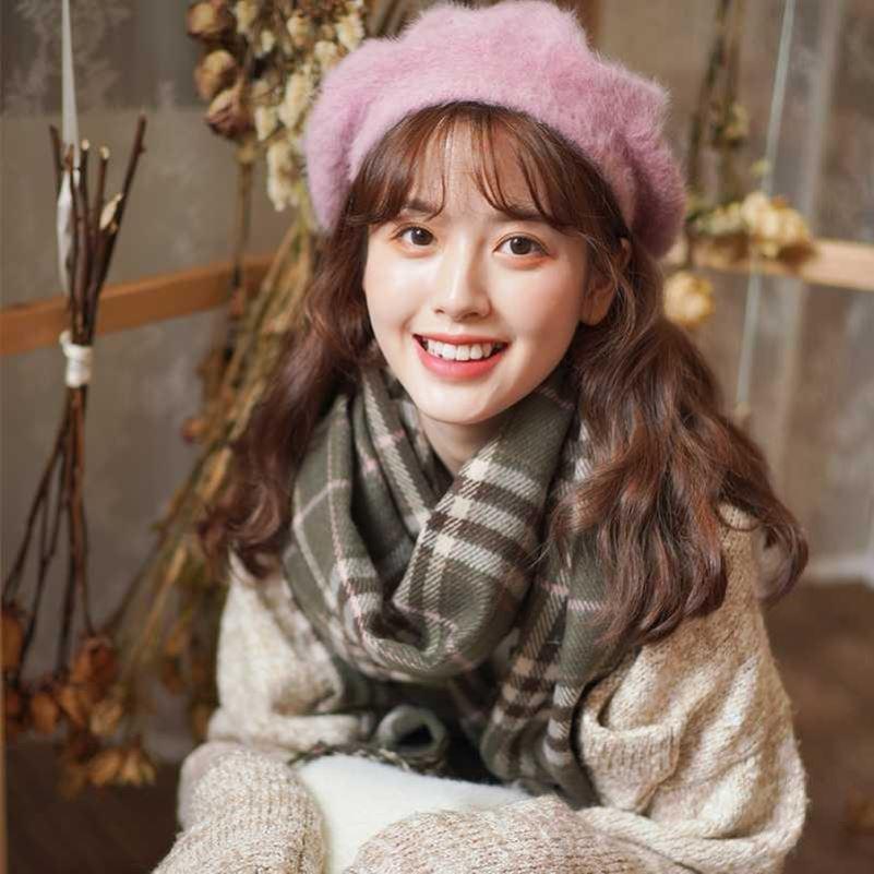 2021 Moda Bufanda encantadora Mantenga la bufanda cálida Pashmina Winter Bufanda de estilo coreano Accesorios de estilo simple para los amantes de las mujeres para hombre