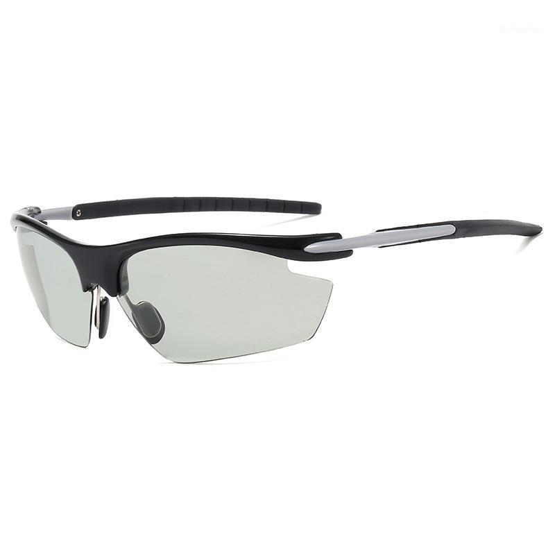 Eyewear a magnesio Polarized Semi-RIMless Eyewear1 Designer Protezione in alluminio UV400 Occhiali da sole Uomo Sport 19222 OFAI