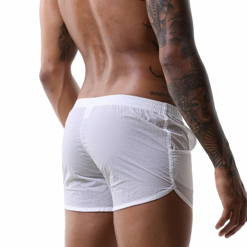 Свободные мужские боксерские шорты Pajamas нижнее белье ночная одежда трусики сексуальные подруги сундуки днища сон CUECA HOMME Pocket Sleepwear