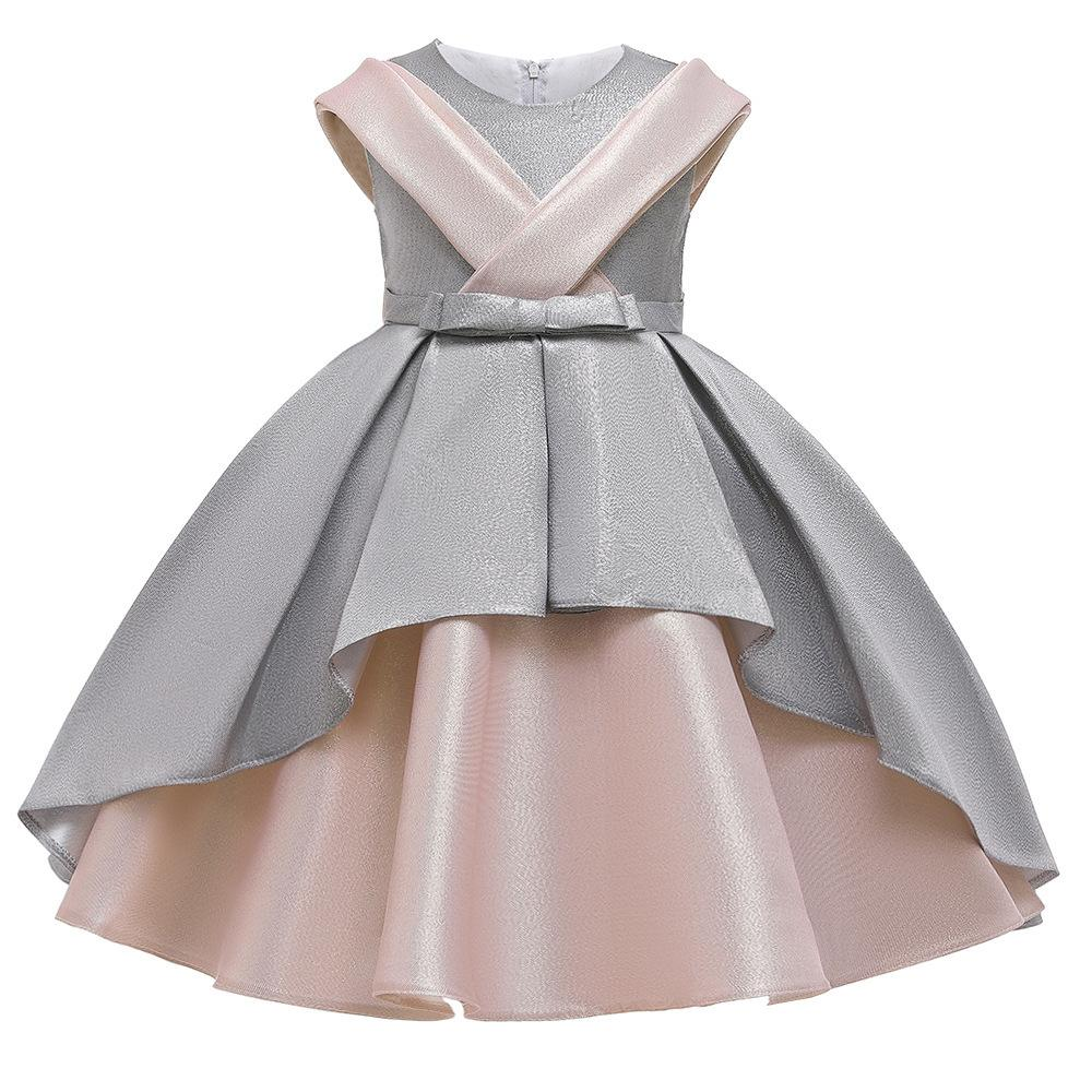 Princess Girls Dress Wedding Party Dresses Children Kids Prom Gown Vestidos Formal Baby Christmas Children Clothing With big Bow F1202