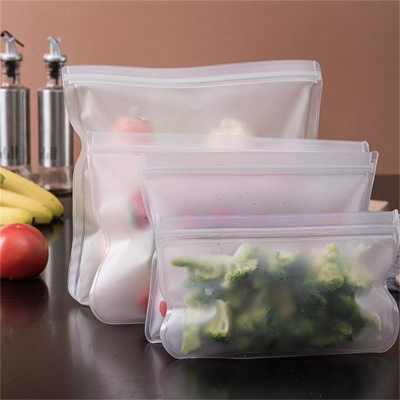 Speisen Aufbewahrungstasche Abdichtung Transparent Home Kühlschrank EVA Frische Taschen Leckfeste Früchte Gemüse Beutel Wiederverwendbar 3BC G2