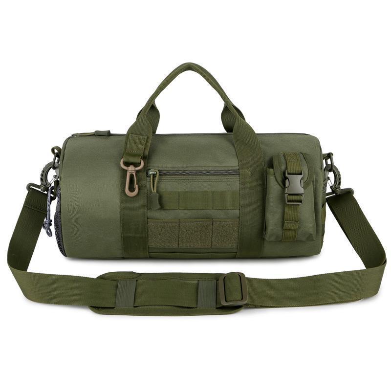 Camo bolso de hombro táctico hombres bolsa de deportes cubeta duffle molle bolso impermeable acampar recorrido mochila