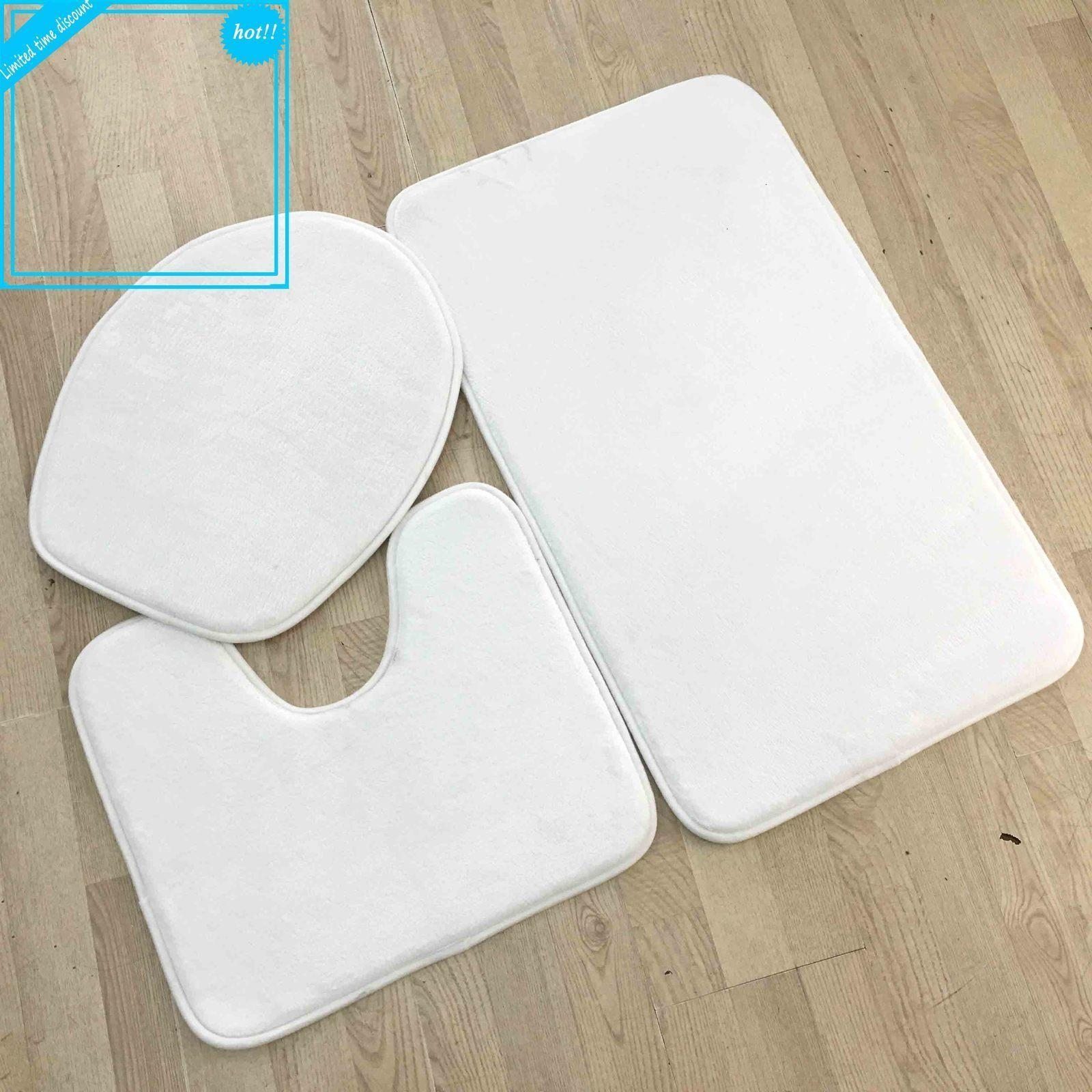 Printable Wholesale White Plain Blank Shower Bathroom Bath Mats for Dye Sublimation Heat Transfer Digital Printing