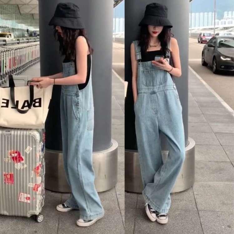 Net Red Mop Frühling 2020 Neue Koreanische Version Lose Altersreduzierung Hohe Taille Wide Bein Jeans Zurück Hosen Frauen Trend