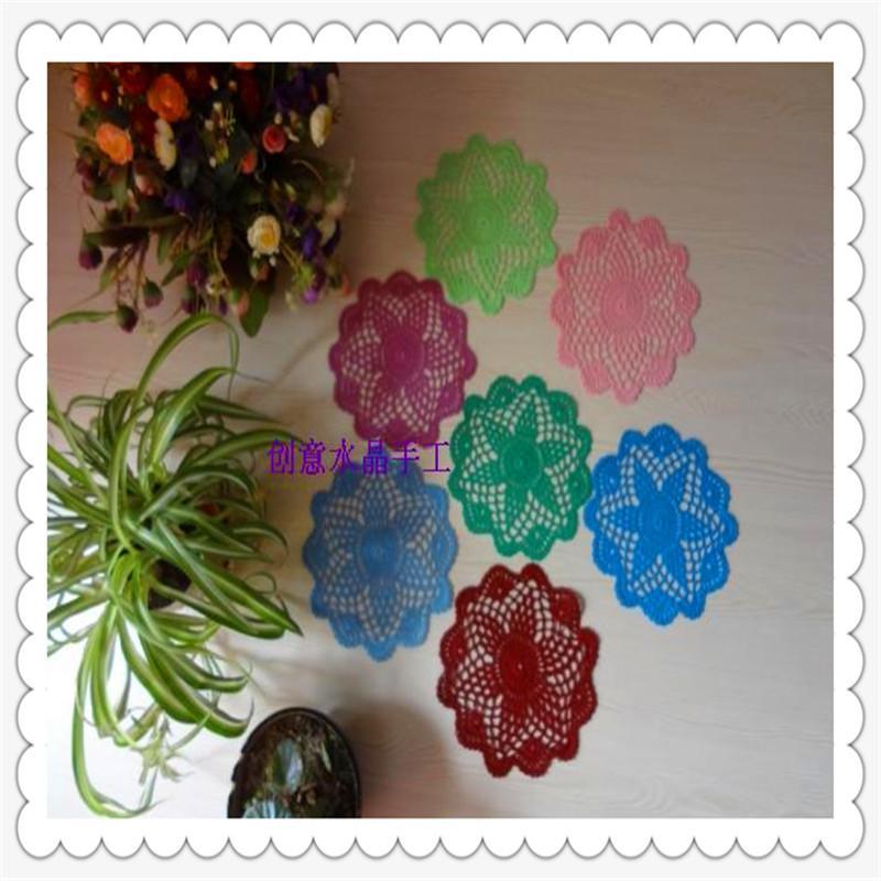 36 PIC 20cm rond Tissu de haute qualité Guangzhou Tissu Rustic Wedding Platemats à la main par coton naturel pour plat sur table ACDessorie C1210