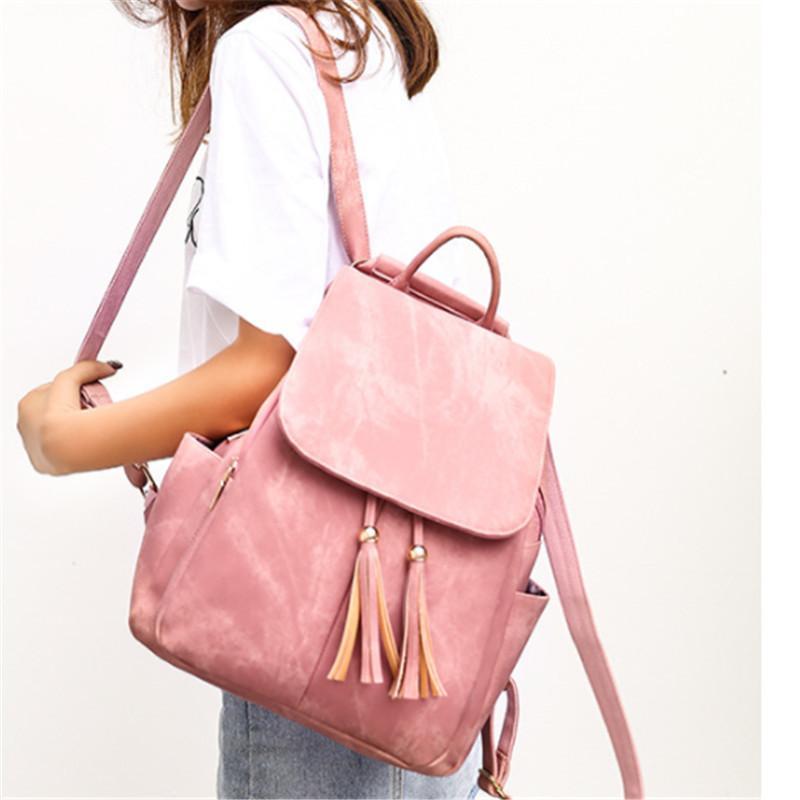 Rucksack Frauen 2019 Neue Marke Designer PU-Leder Weibliche Rucksäcke Junges Mädchen Solide Rucksack Schultasche A1113