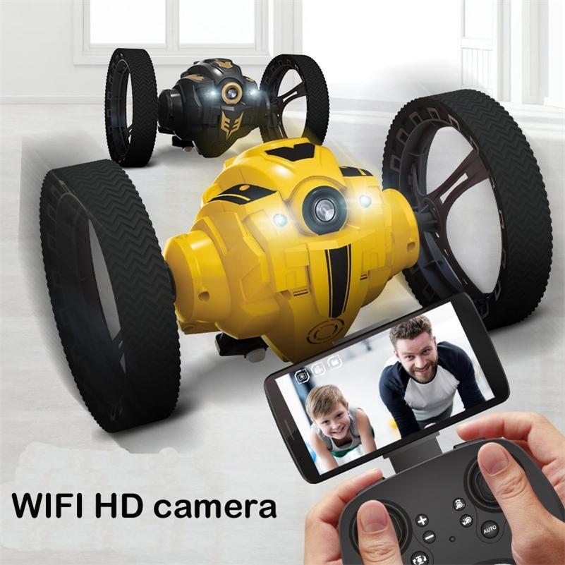RC Bounce Auto-Kamera Wifi FPV LED-Scheinwerfer-Sound High-Speed-Video-Fernbedienung Jumping-Streich-Stunt-Spielzeug Smart Racer-Kind LJ200918