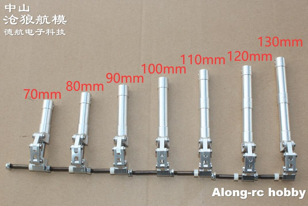 One Pair 70 80 90 100 110 120 130mm Back Damping Kneeling Landing Gear suitable for 3-4kg RC Model Aircraft JET EDF Plane part