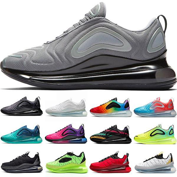 max 720  Hommes Chaussures Gris Triple courante fraîche Noir Blanc Chaussures Sunrise Sunset Volt être vrai fierté entraîneur des hommes de sport Taille 36-45