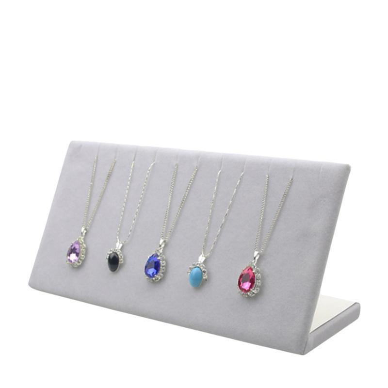 Bracelete da corrente do colar de veludo display l suporte de jóias