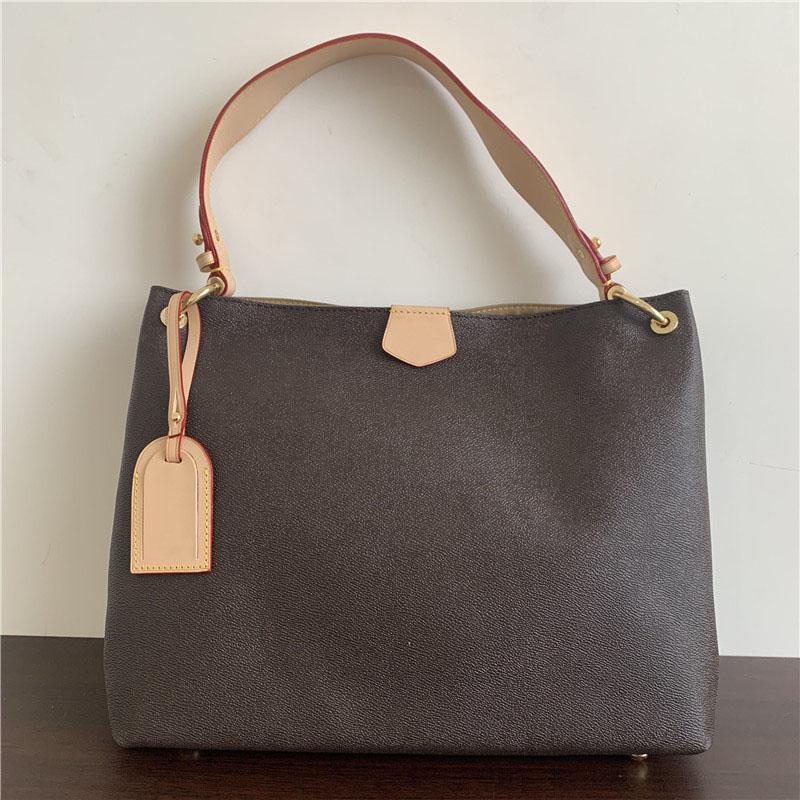 2020 Handtaschen Leder Mode Klassische Frauen Umhängetasche Frau Single Griff Tote Einkaufstaschen 39x12x34cm
