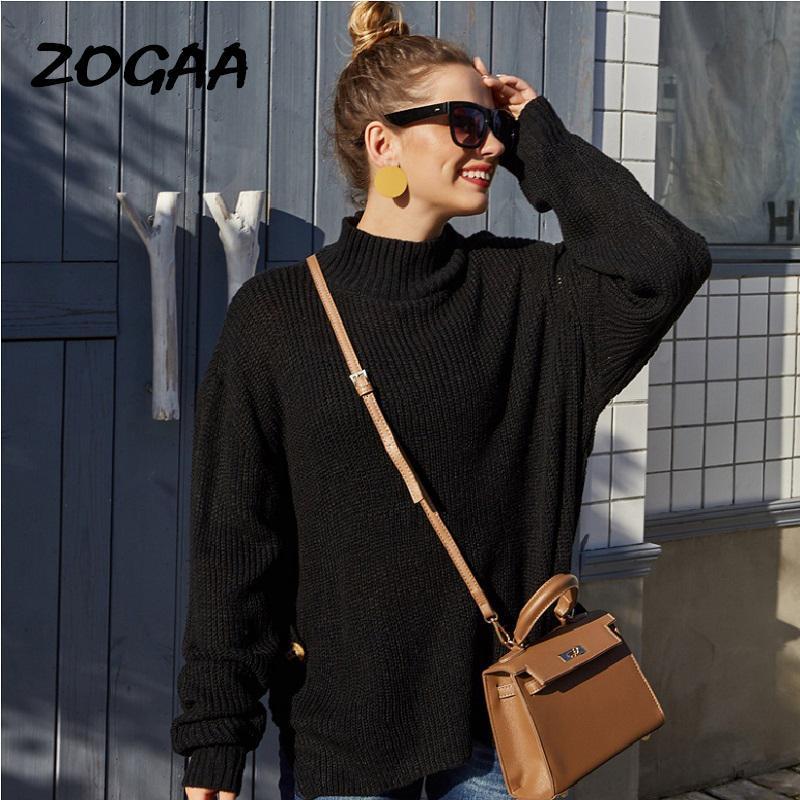 Zogaa maglioni donne a maniche lunghe signore hot autunno inverno inverno nuovo o-collo pullovers casual moda solido semplice tutto partita di base
