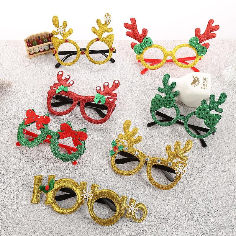 Decorações De Party Kids Ornaments Presentes 2020 Brinquedos Novos Crianças Santa Claus Christmas Glowing Óculos Quadro